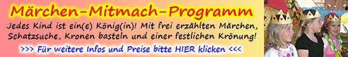 Märchen-Mitmach-Programm für Kinder und Familien